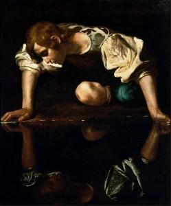 Narcissus (1590s) by Caravaggio (Galleria Nazionale d'Arte Antica, Rome)